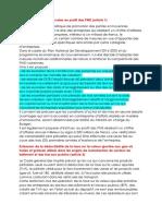 Principales Mesures de l'Annexe Fiscale 2019