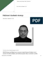 Pakistan's Kashmir Strategy - Pakistan - DAWN.com
