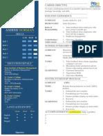 Resume Format Experi