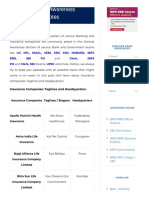 Insurance Companies_ Taglines and Headquarters - Oliveboard