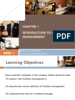 Chapter 1 - Introduction to Facility Management