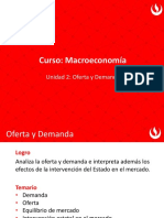 Macroeconomia UPC 2 Oferta y Demanda