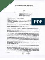 La Décision Des Magistrats Seebaluck et Jannoo-Jaunbocus  Rayant Les Charges Contre Ramgoolam