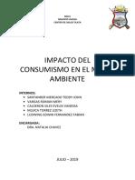 IMPACTO DEL CONSUMISMO EN EL MEDIO AMBIENTE