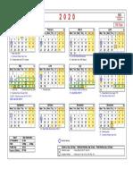 Andalan Global_Working Calendar 2020