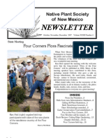 Oct-Dec 2007 Voice for Native Plants Newsletter, Native Plant Society of New Mexico