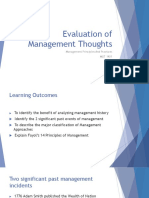 2. Evaluation of Management Thoughts New