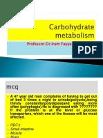 Carbohydrate Metabolism MBBS