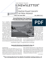 Apr-Jun 2009 Voice for Native Plants Newsletter, Native Plant Society of New Mexico