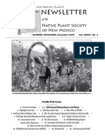 Oct-Dec 2009 Voice for Native Plants Newsletter, Native Plant Society of New Mexico