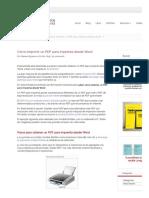 Impimir PDF desde Word