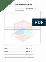 Folha de Assinatura e Relatório