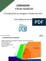 5-Temperatura Na Usinagem e Fluidos de Corte