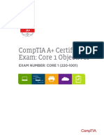 Comptia a 220 1001 Exam Objectives (3 0)