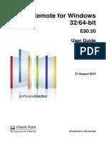 CP E80.50 SecuRemoteClient UserGuide