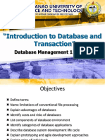 Intro to Database and Transaction (Part 1)