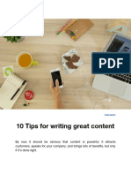 10 Tips for Writing Great Content