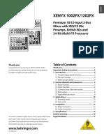 Mezcladora Beringer 1002 Manual