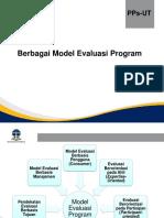 Berbagai Model Evaluasi Program PPt Minggu 2