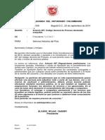 Memorando 1009 - Artículo 487 Código General Del Proceso Declarado Exequible