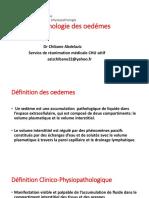 Physiopathologie Des Oedémes
