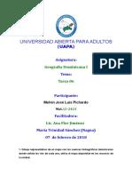 LA TAREA No VI Geografía Dominicana I.docx