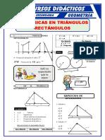 Relaciones Métricas en Triangulos Rectangulos Para Cuarto de Secundaria
