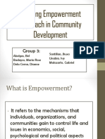 Applying Empowerment Approach in Community Development