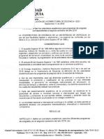 Resolución 12521 Calendarios Académicos 2019-2
