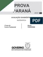 1ª Prova Paraná 5º Ano Versão Final 27-03-2019_MAT