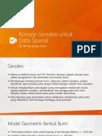 Konsep Geodesi Untuk Data Spasial