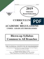 1st Year Blown Up Syllabus 2019 20