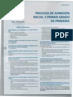 Proceso de Admisión Inicial y Primer Grado de Primaria