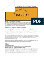 How to Organize a Paper- IMRAD