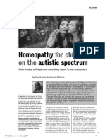 Homeopathy for Children on the Autistic Spectrum Stephanie Andrews