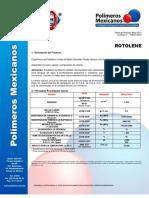 Especificaciones Tecnicas Material Rotolene Natural 93050
