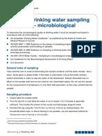 water sampling