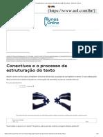 Conectivos e o Processo de Estruturação Do Texto - Alunos Online