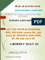 Ley de Contratciones Articulo 110-124
