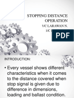 Stopping Distance Operation