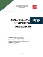 informe laboratorio organica