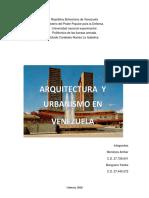 Arquictetura y Urbanismo en venezuela