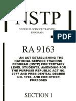 Nstp Program Report