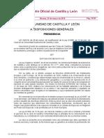 Ley 92019, De 28 de Marzo, De Modificación de La Ley 41996, De 12 de Julio, De Caza en La Comunidad Autónoma de Castilla y León