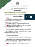 Lei Complementar Municipal n° 0015 de 1995 - Estatuto do Servidor Público Municipal