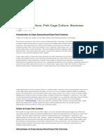 Cage Aquaculture, Fish Cage Culture, Business Plan _ Agri Farming