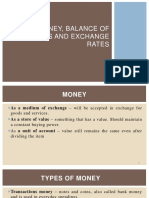 Money%2c Balance of Payments and Exchange Rates