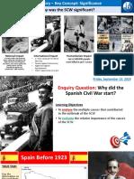 1. Causes of Spanish Civil War