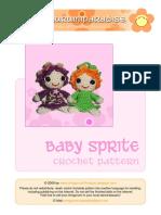 Baby sprite amigurumi