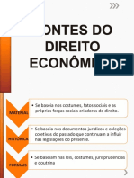 FONTES DO DIREITO ECONOMICO